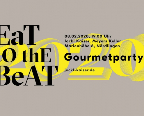 Ticket eat to the beat Jockl Kaisers Gourmetparty