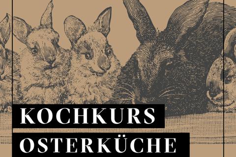 Grafik mit Osterhasen für Osterkochkurs bei Jockl Kaiser