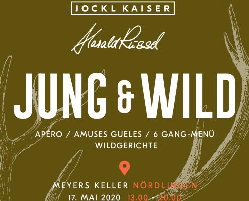 """Event Einladung """"Jung und Wild"""" Kochevent"""