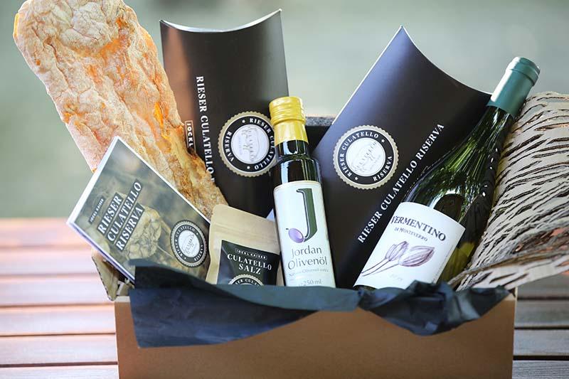 Culatello-Box mit Schinken und Jordan Olivenöl von Jockl Kaiser Nördlingen