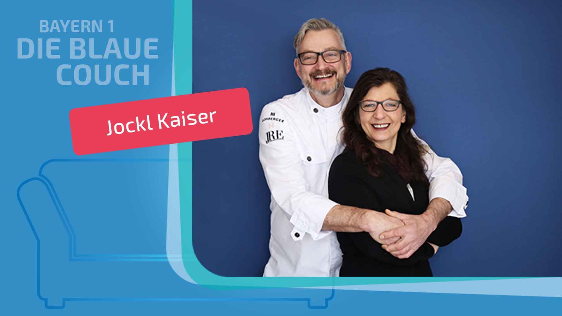 Jockl und Evelin Kaiser Portrait die Blaue Couch