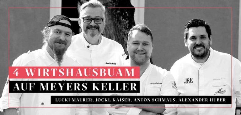 23. November: vier Wirtshausbuam auf Meyers Keller: Lucki Maurer, Alex Huber, Anton Schmaus und Jockl Kaiser